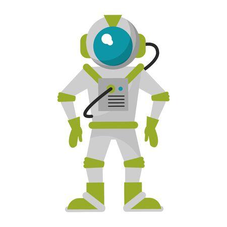 Astronaut equipment cartoon isolated vector illustration graphic design