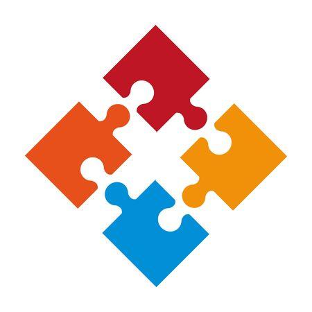 puzzle icon cartoon isolated vector illustration graphic design Vector Illustration