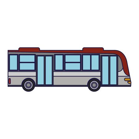 Public bus vehicle symbol sideview vector illustration graphic design vector illustration graphic design
