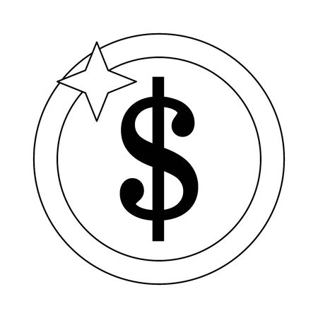 Money coin isolated symbol vector illustration graphic design