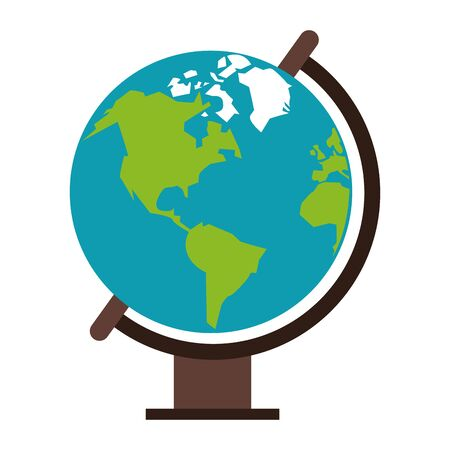 World globe cartoon isolated vector illustration graphic design