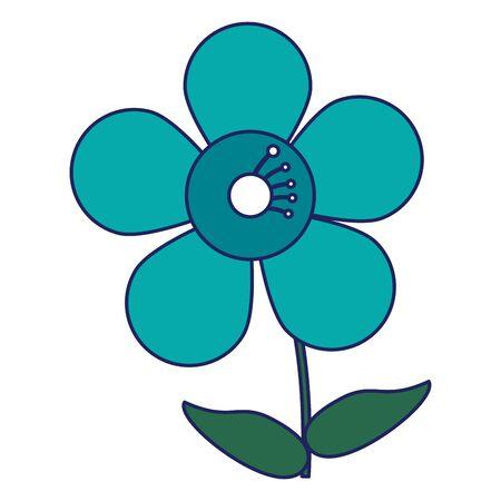 Beautiful flower cartoon isolated icon ilustration vector