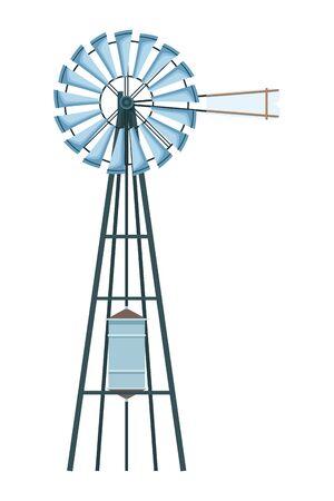 wind turbine icon cartoon isolated vector illustration graphic design Illusztráció