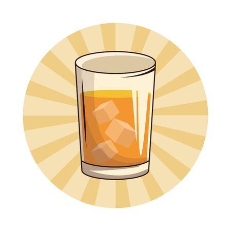 refreshing alcoholic cold summer drink cartoon vector illustration graphic design