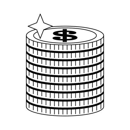 Money coins piled up symbol vector illustration graphic design 일러스트