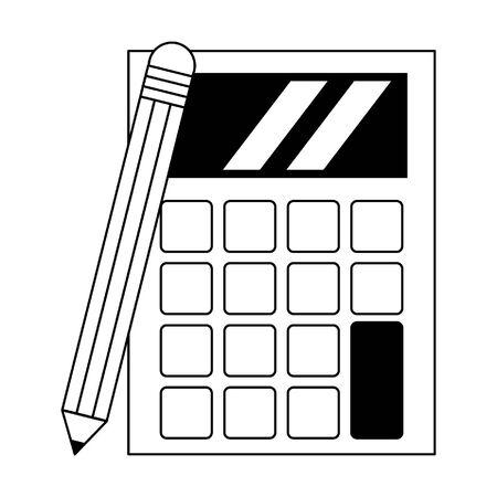 calculadora, icono, caricatura, aislado, vector, ilustración, diseño gráfico