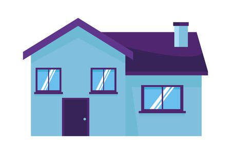 house building icon cartoon vector illustration graphic design