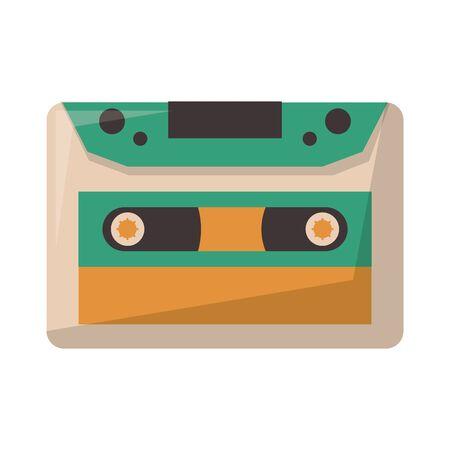 old music cassette symbol vector illustration graphic design