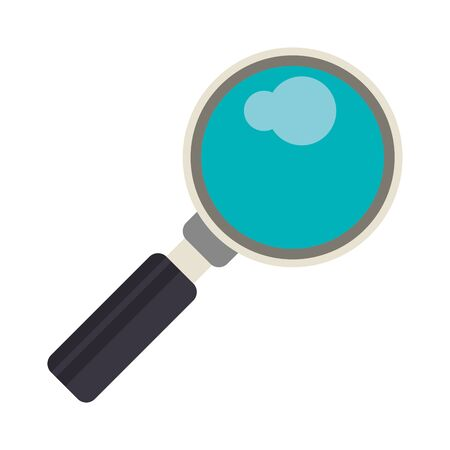 Magnifying glass symbol isolated vector illustration graphic design