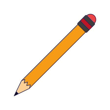 pencil with eraser utensil vector illustration graphic design Ilustração