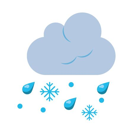 Cloud and snow weather symbol isolated vector illustration graphic design