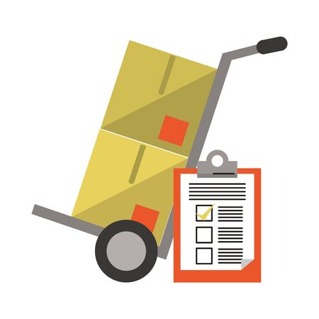 Delivery and logistics symbols and elements vector illustration graphic design Illustration