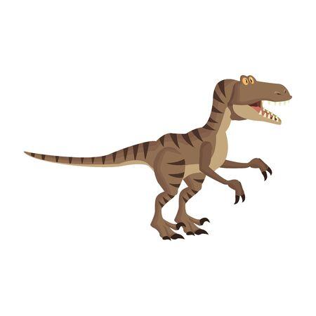raptor dinosaur cartoon isolated vector illustration graphic design Vektoros illusztráció