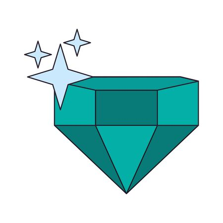 Videogame diamond shinning cartoon isolated vector illustration graphic design