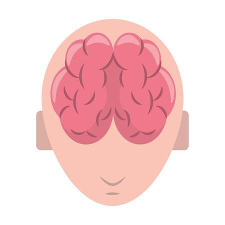 human brain cartoon vector illustration graphic design Stock Illustratie