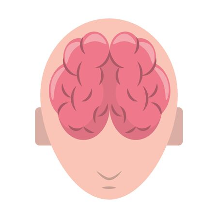 human brain cartoon vector illustration graphic design Illustration