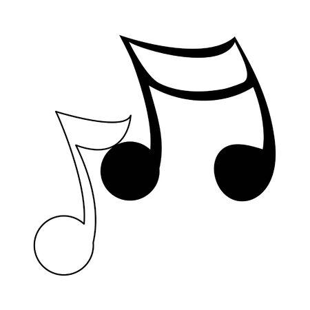 Music notes symbol isolated cartoon vector illustration graphic design Illustration