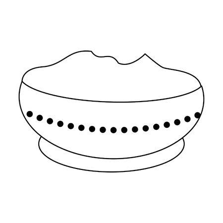 Ugadi festival offering pot cartoons vector illustration graphic design