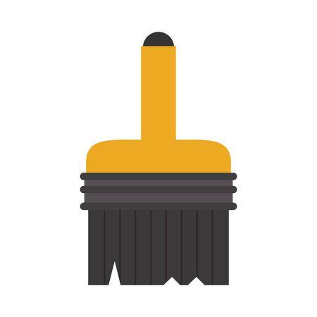 paint brush contruction tool isolated symbol vector illustration graphic design