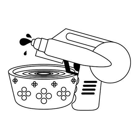 Water pot and handgun pistol toy cartoon vector illustration graphic design