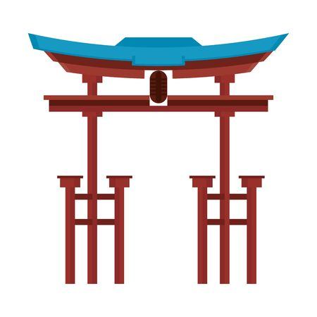 China entrance monument isolated symbol