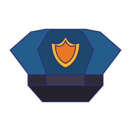 Police cap with badge symbol isolated vector illustration graphic design