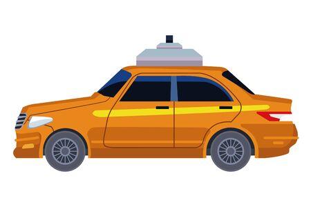 taxi cab car icon cartoon vector illustration graphic design