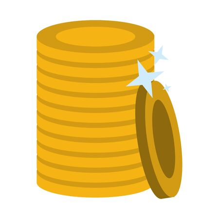 Gold coins piled up symbol isolated vector illustration graphic design 일러스트