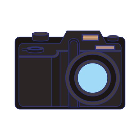 Modern photographic camera symbol isolated