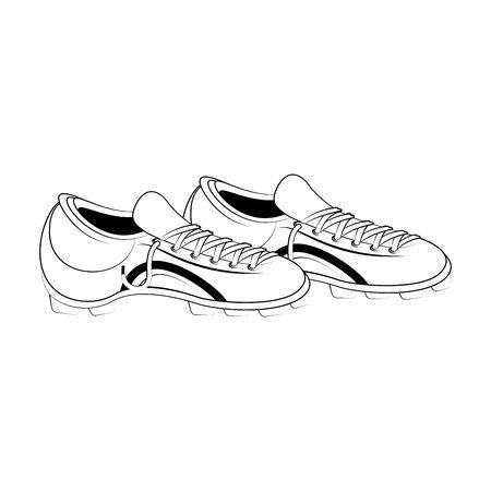 Soccer footwear boots game equipment vector illustration graphic design 向量圖像