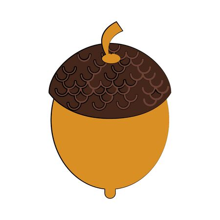 Nut autumn snack cartoon isolated vector illustration graphic design