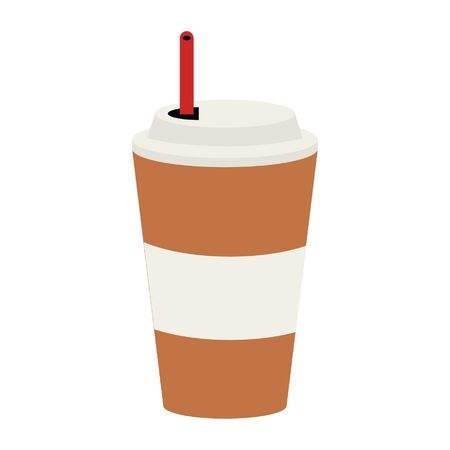 Ice coffee to go cup vector illustration graphic design