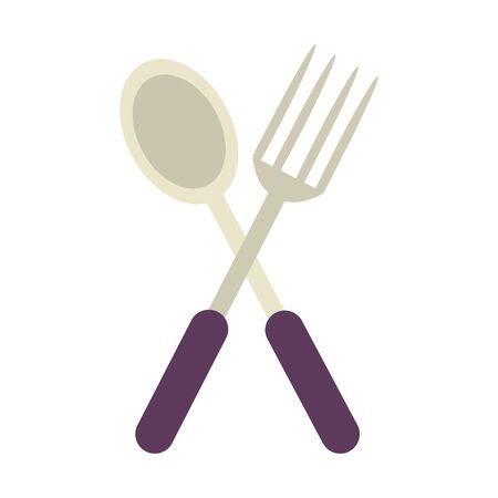 isolated fork, plate and spoon symbols vector illustration graphic design Stock Vector - 128956847
