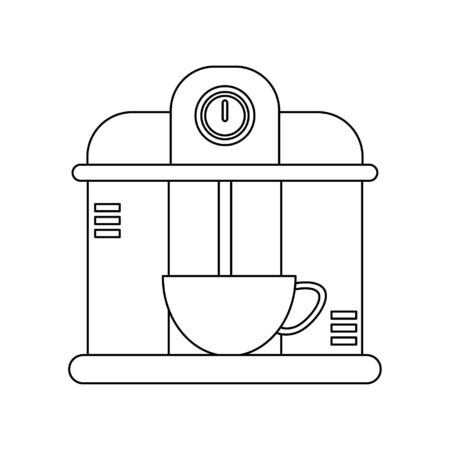 Coffee espresso machine serving drink in mug vector illustration graphic design