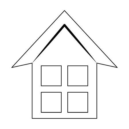 house silhouette icon cartoon vector illustration graphic design Illusztráció