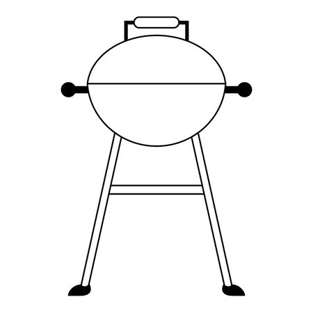 Barbecue grill equipment for cook isolated vector illustration graphic design Stock Vector - 128997045