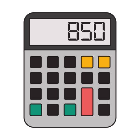 Calculator math device isolated symbol vector illustration graphic design