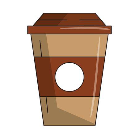 drink coffee cup icon cartoons vector illustration graphic design