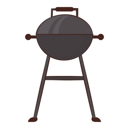 Barbecue grill equipment for cook isolated vector illustration graphic design Stock Vector - 129037592
