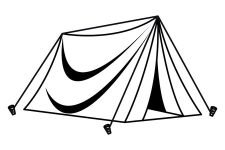 Camping travel tent equipment cartoon ,vector illustration graphic design.