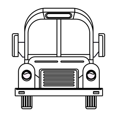 School bus public vehicle frontview ,vector illustration graphic design.