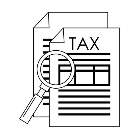 state government tax business balance calculation work personal finance elements cartoon vector illustration graphic design Stock Illustratie