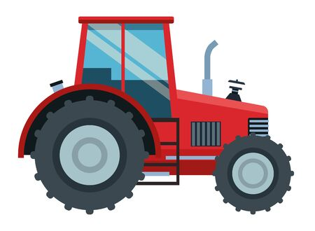 farm, animals and farmer farm tractor icon cartoon vector illustration graphic design
