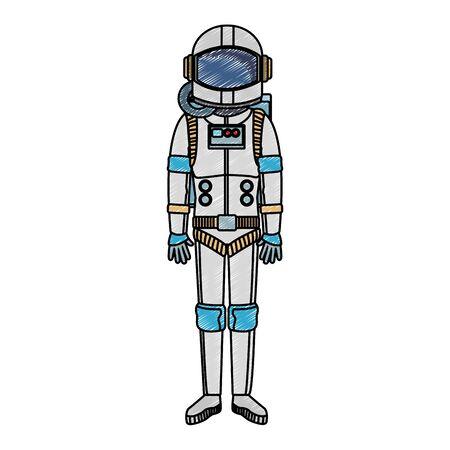 Astronaut wear equipment vector illustration graphic design