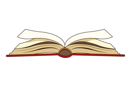 open book side view icon cartoon isolated vector illustration graphic design