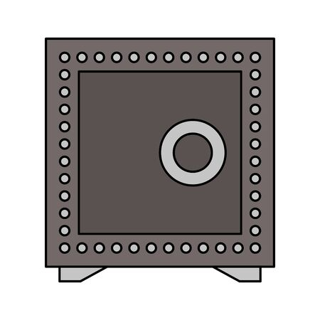 Strongbox money safety symbol isolated vector illustration graphic design