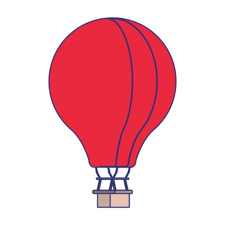 Hot air balloon isolated symbol