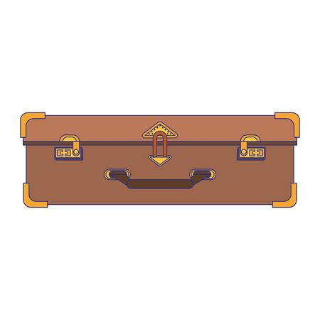 travel suitcase luggage frontview symbol Standard-Bild - 129177105