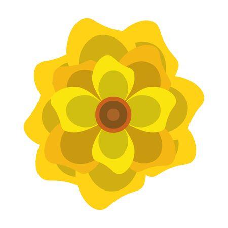 lotus blossom flowers nelumbo nucifera gaertn icon cartoon vector illustration graphic design Standard-Bild - 129185155