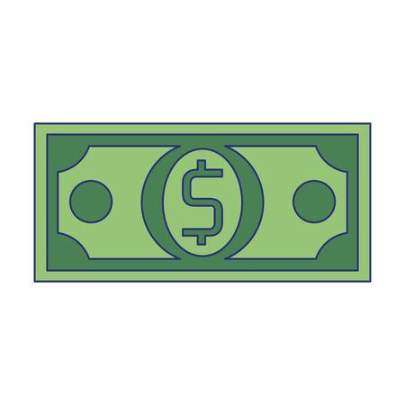 Money bill cash symbol isolated vector illustration graphic design Foto de archivo - 129185226